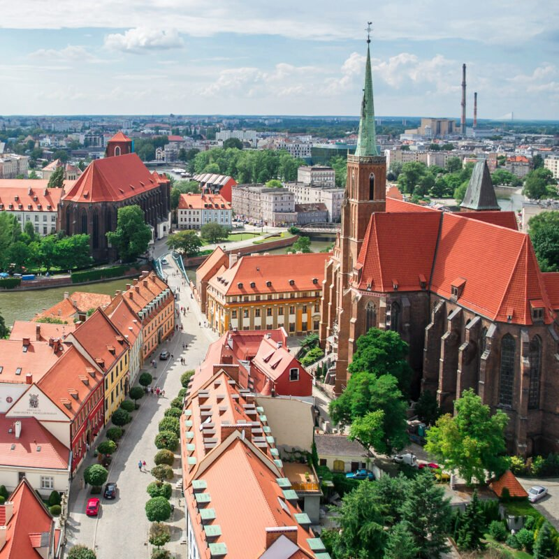 The Old Town of Wroclaw, Poland.