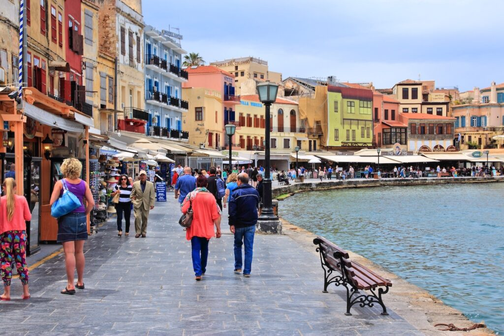 The Old Venetian Harbor of Chania.