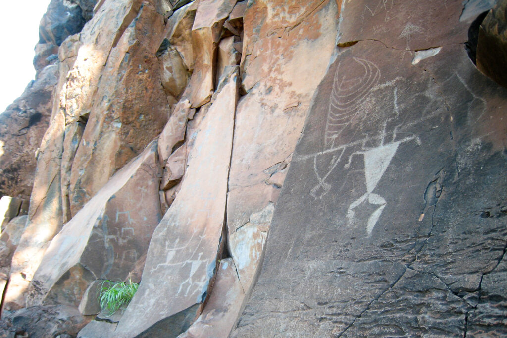 The Olowalu Petroglyphs on the isle of Maui.