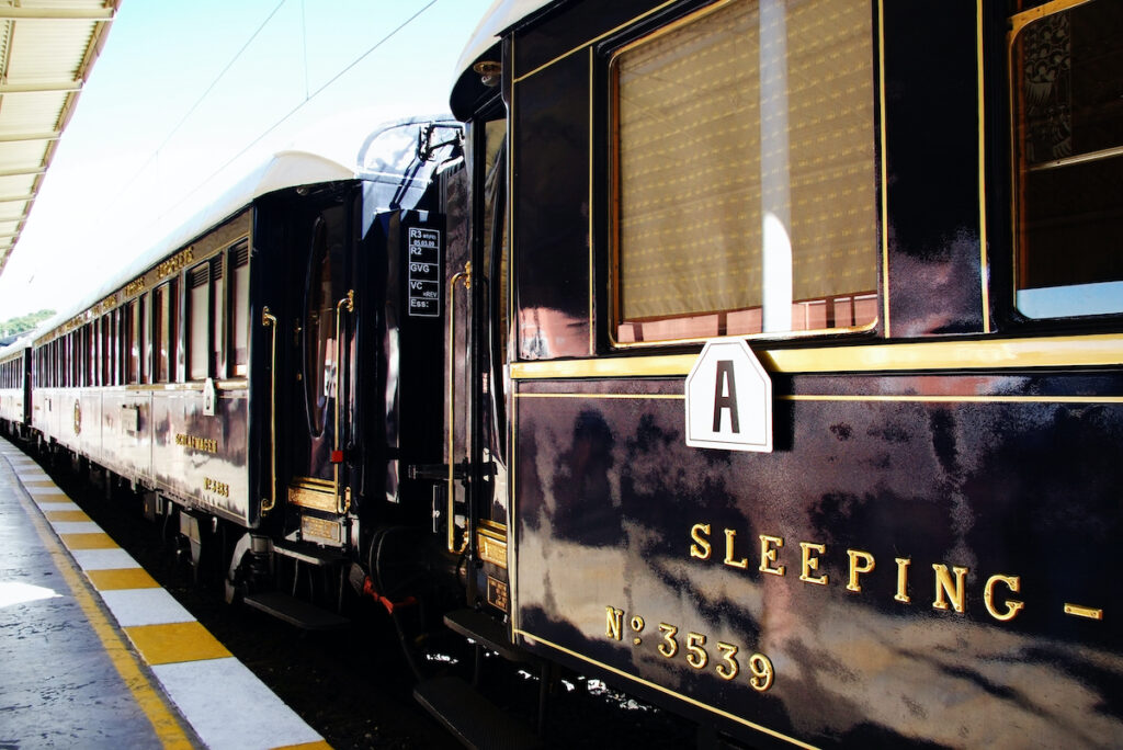 The Orient Express train in Europe.