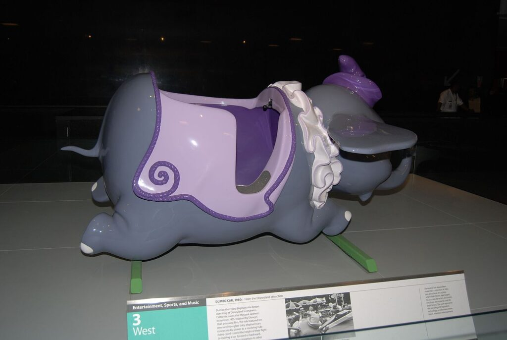 The original Dumbo the Flying Elephant ride at the Smithsonian.
