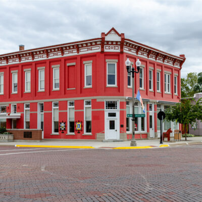The original Farmers State Bank building in Lindsborg, Kansas.