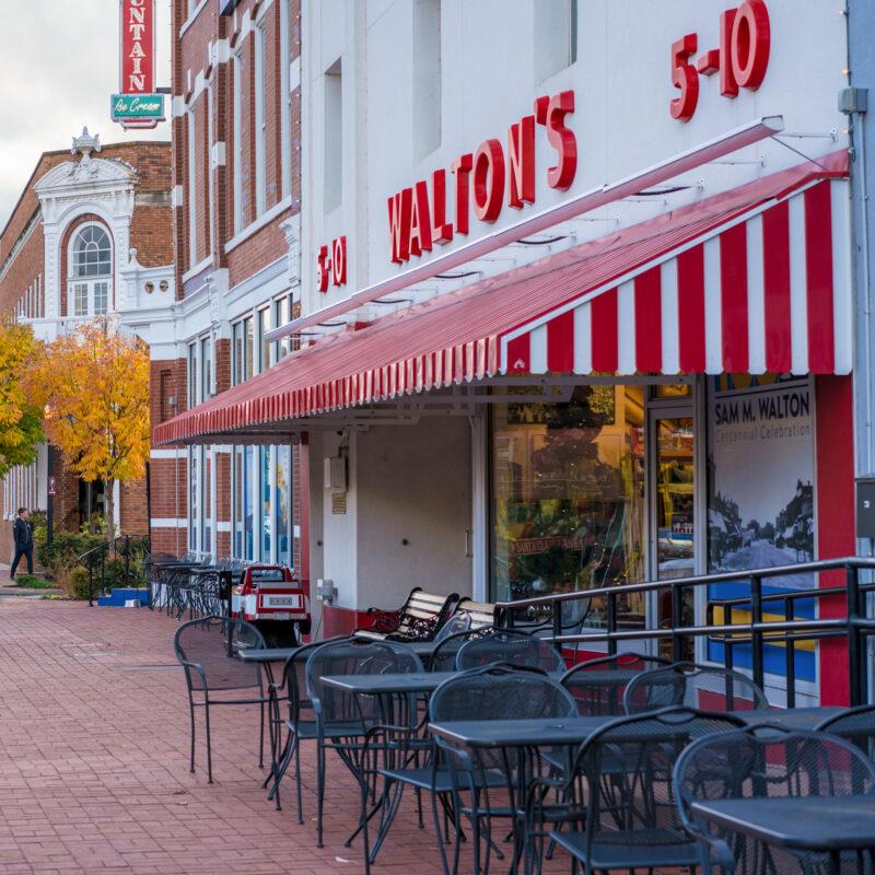The original Walton's in Bentonville, Arkansas.