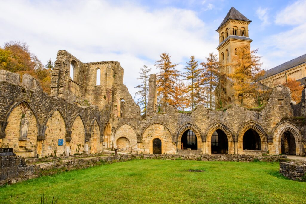 The Orval Abbey in Belgium.