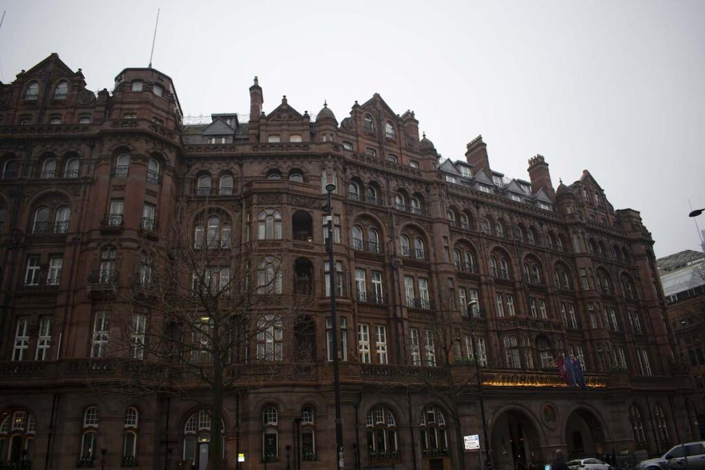 The outside of the Midland Hotel and Spa in England.