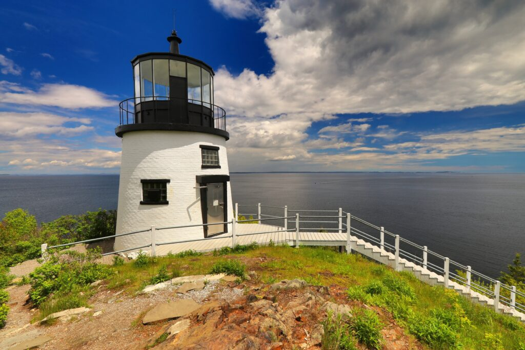 The Owl Head Light in Rockland, Maine.