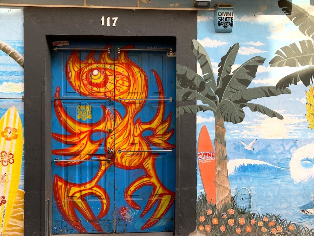 The Painted Doors Project in Funchal's Old Town.