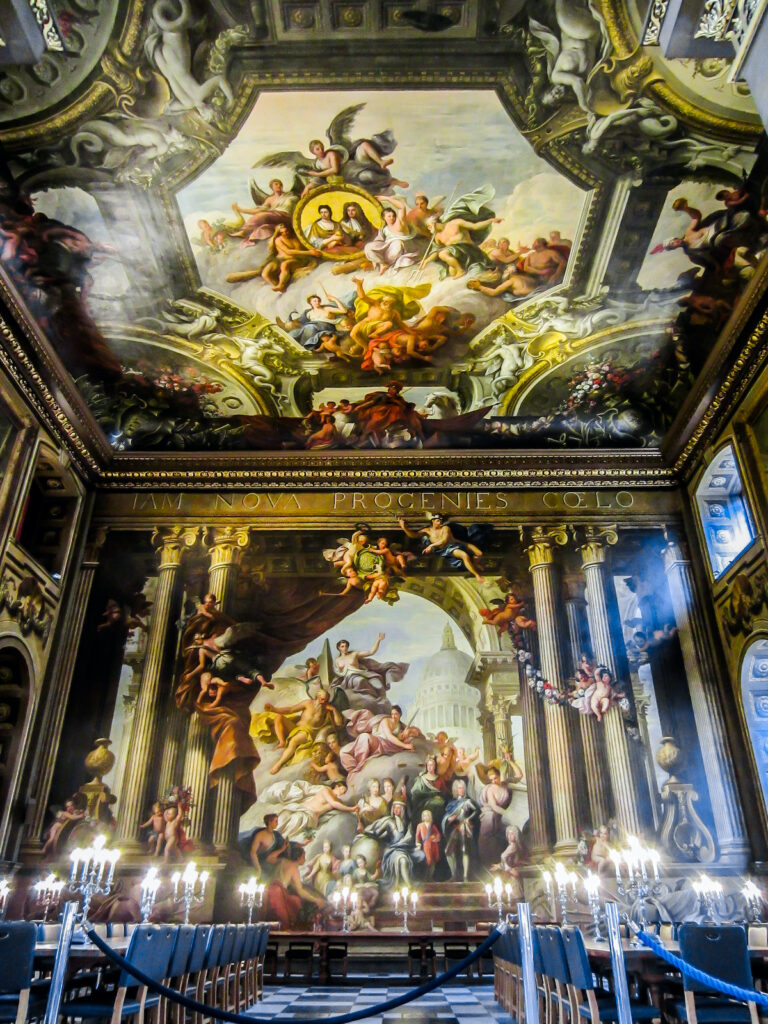 The Painted Hall at the Old Royal Navy College.