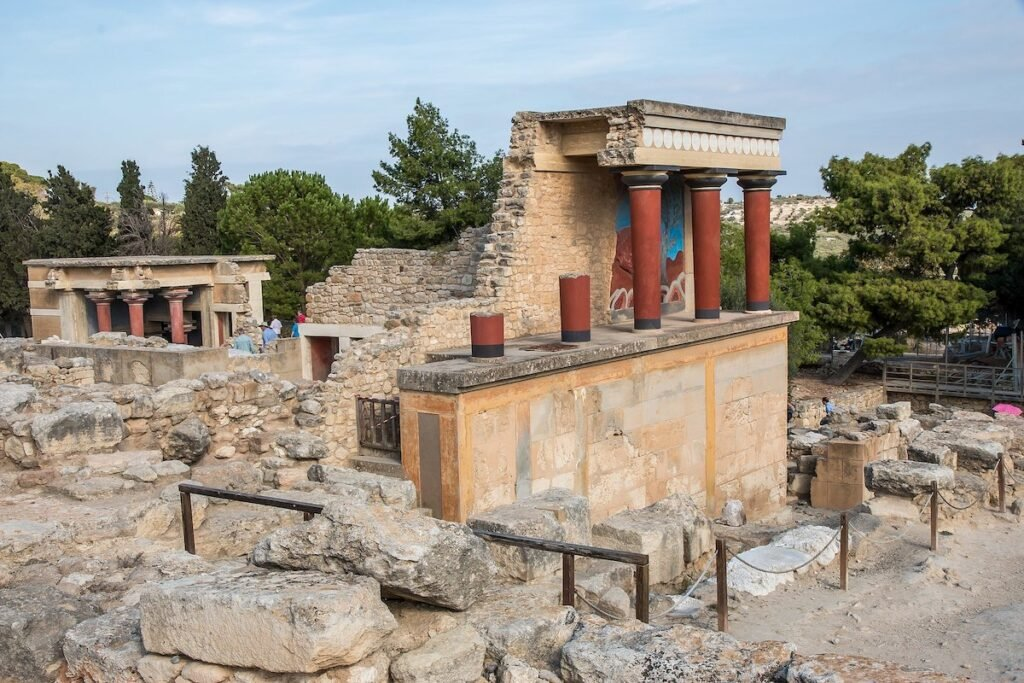 The Palace of Knossos in Crete.
