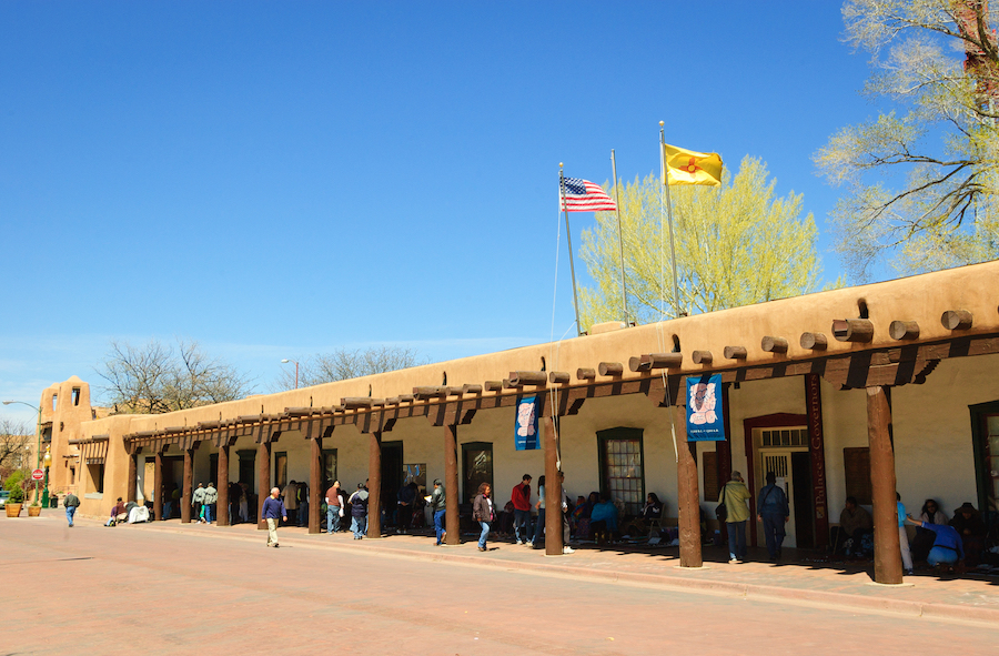 The Palace Of The Governors in Santa Fe.
