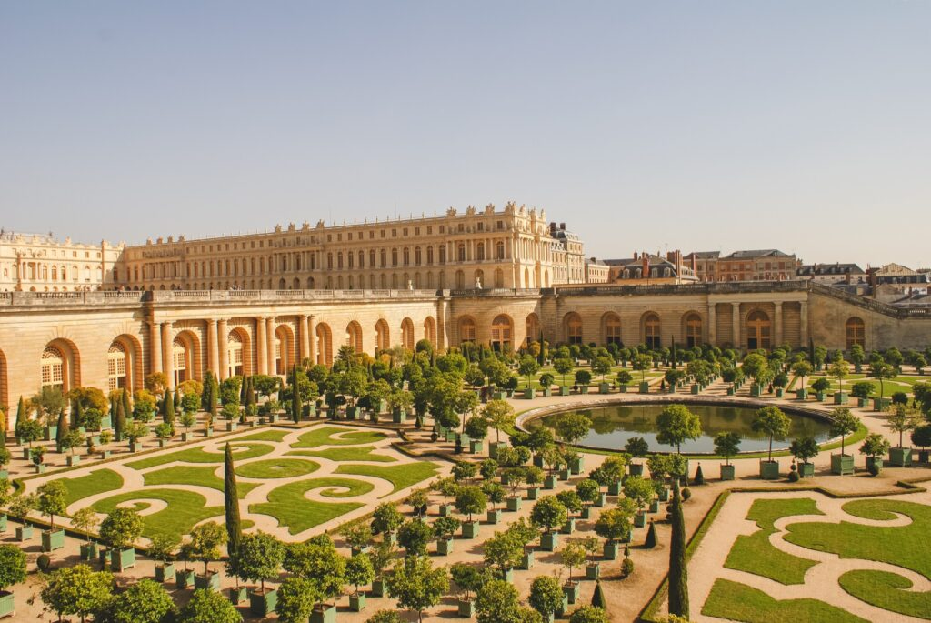 The Palace of Versailles in France.