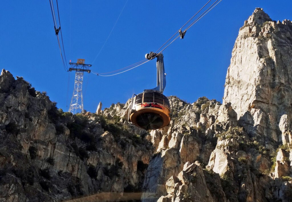 The Palm Springs Aerial Tramway.