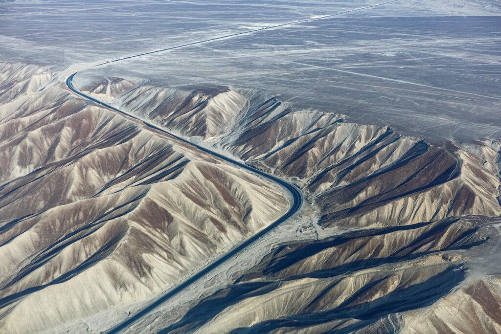 The Pan-American Highway through Peru.