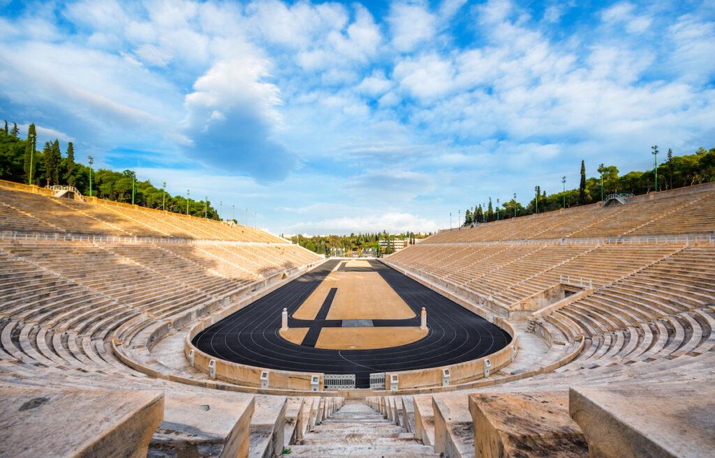 The Panathenaic Stadium in Athens, Greece
