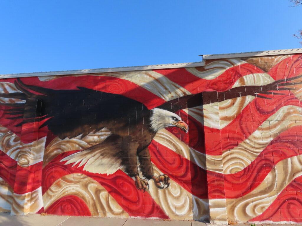 The Papillion mural in Omaha, Nebraska.