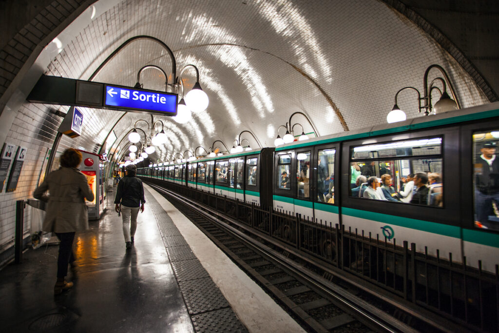 The Paris metro system in France.