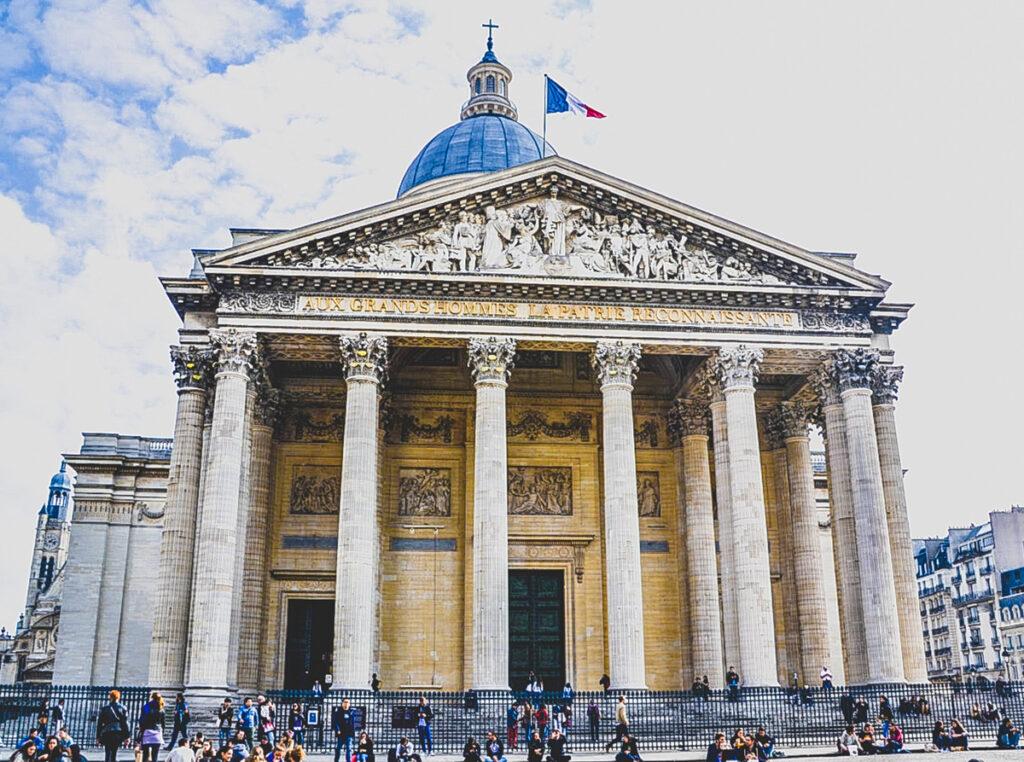 The Paris Pantheon in the Latin Quarter.