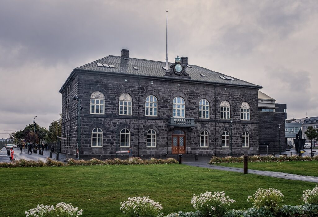 The Parliament Building in Reykjavik.