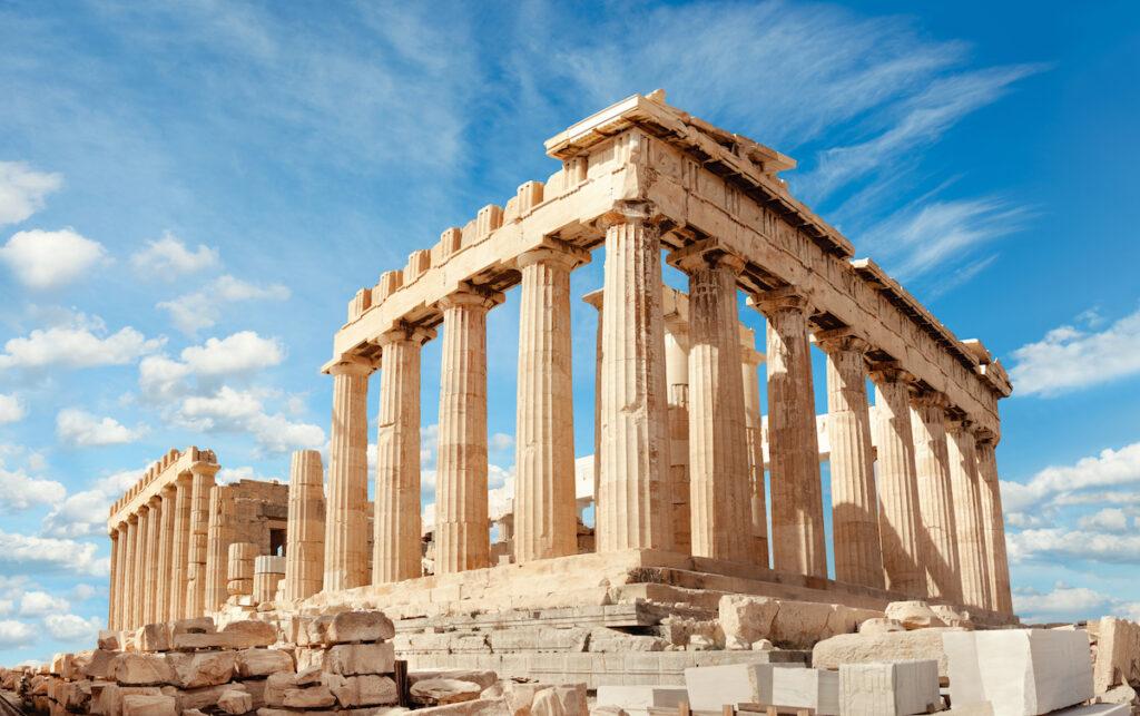The Parthenon temple in Acropolis, Greece