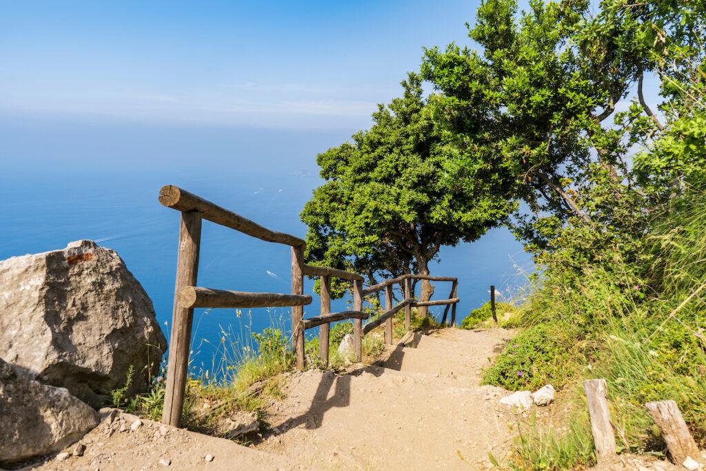 The Path Of The Gods in Positano, Italy.