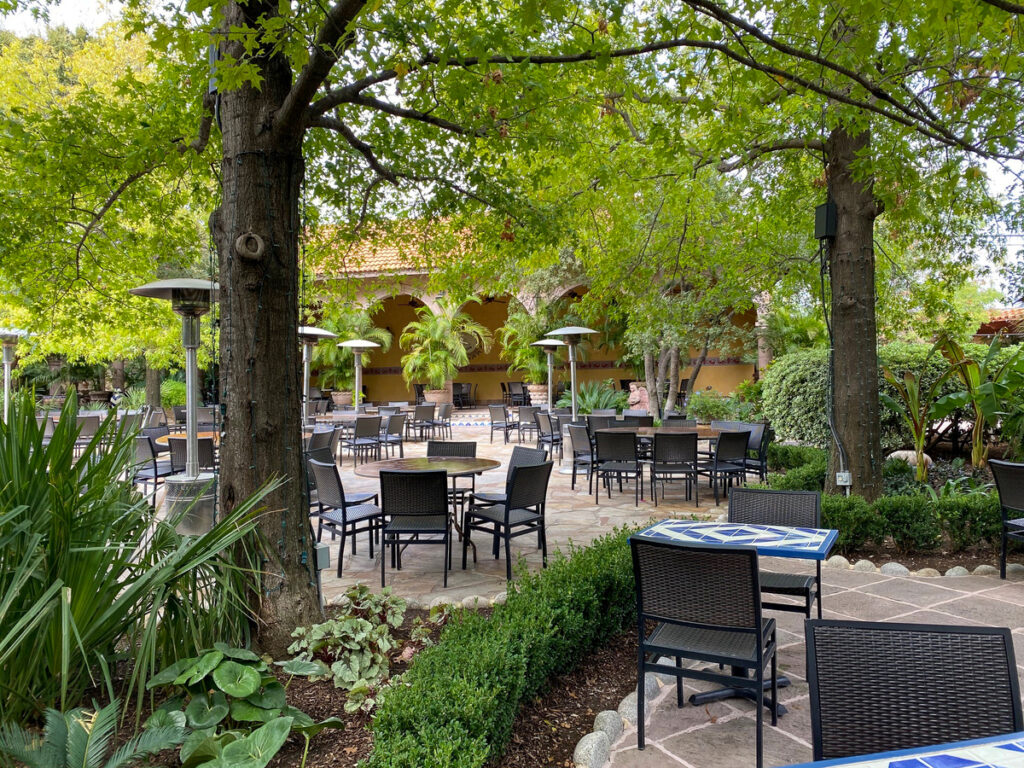 The patio at Joe T. Garcia's in Fort Worth, Texas.