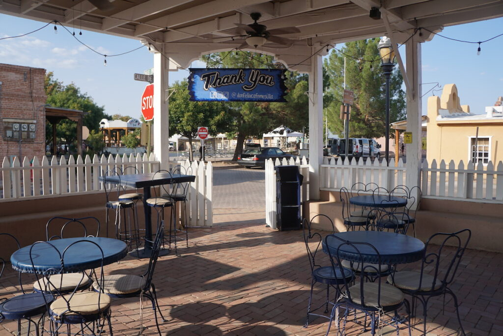 The patio of Don Felix Cafe in Las Cruces, New Mexico.