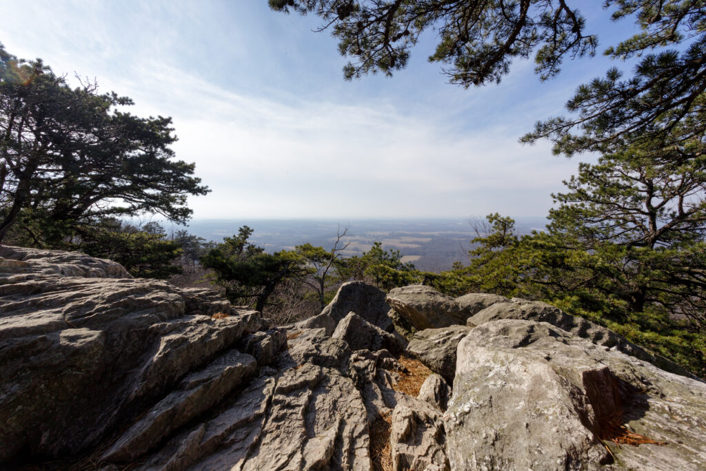 The peak of Sugarloaf Mountain in Maryland.