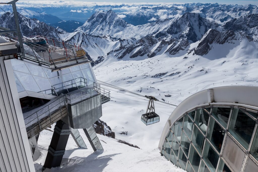 The peak of Zugspitze in Germany.