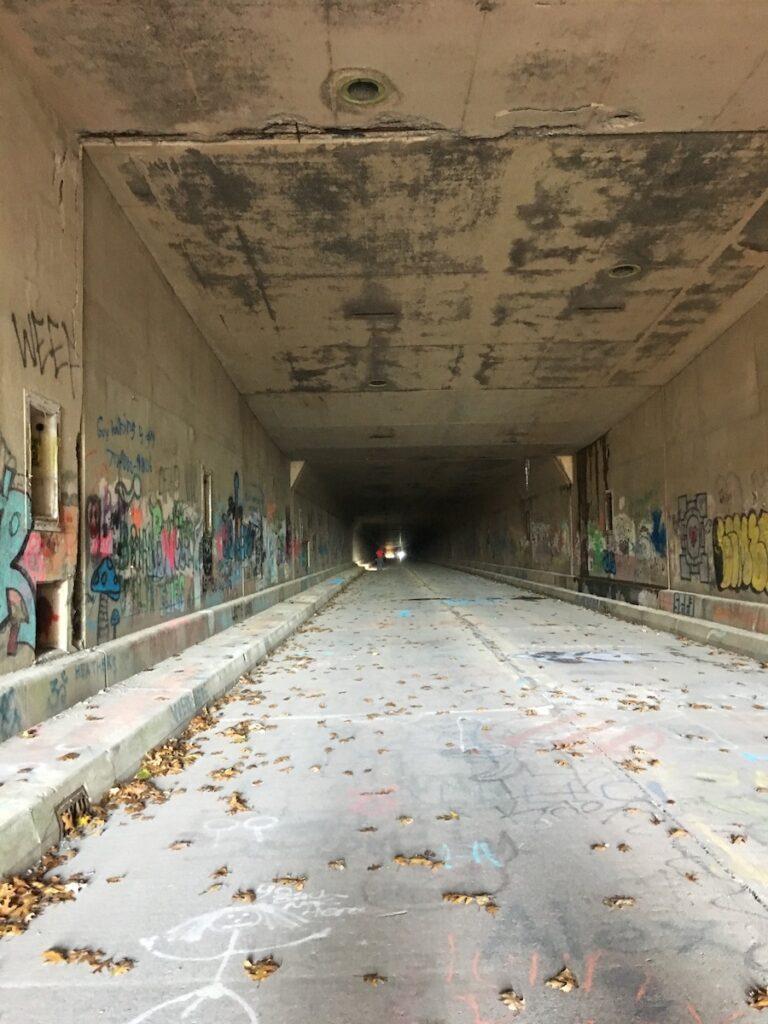 The Pennsylvania Turnpike Tunnel Hike in Breezewood.