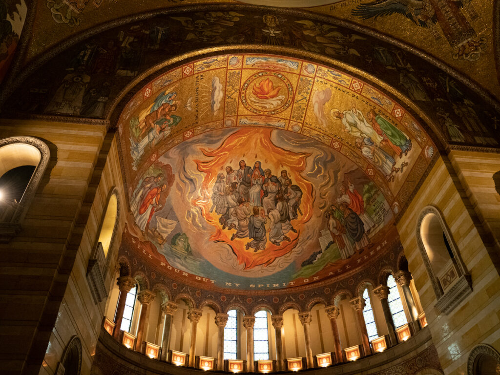 The Pentecost Mosaic at the Cathedral Basilica of St. Louis.