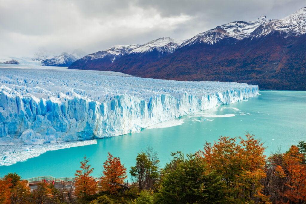 The Perito Moreno Glacier in Patagonia.