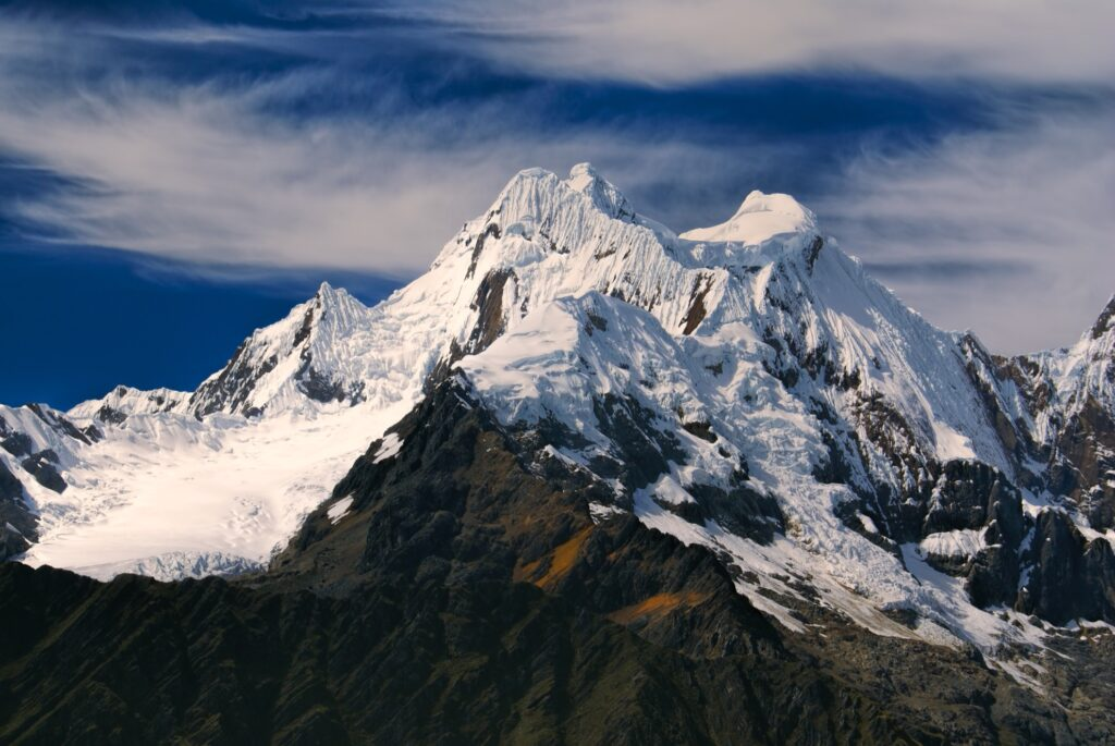 The Peruvian Andes.