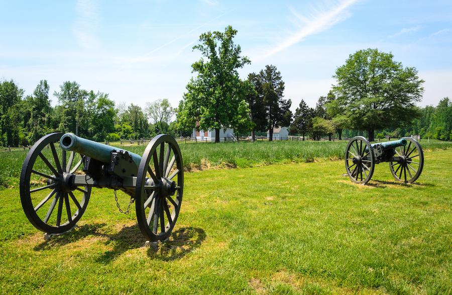 The Petersburg National Battlefield in Virginia.