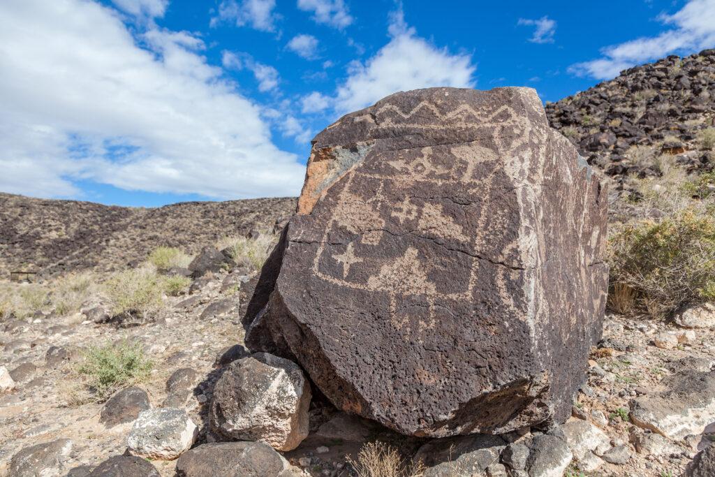 The Petroglyph National Monument in Albuquerque.