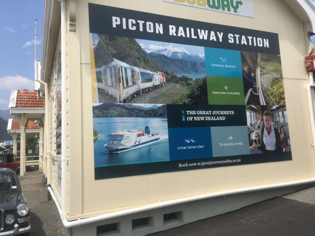 The Picton Railway Station in New Zealand.