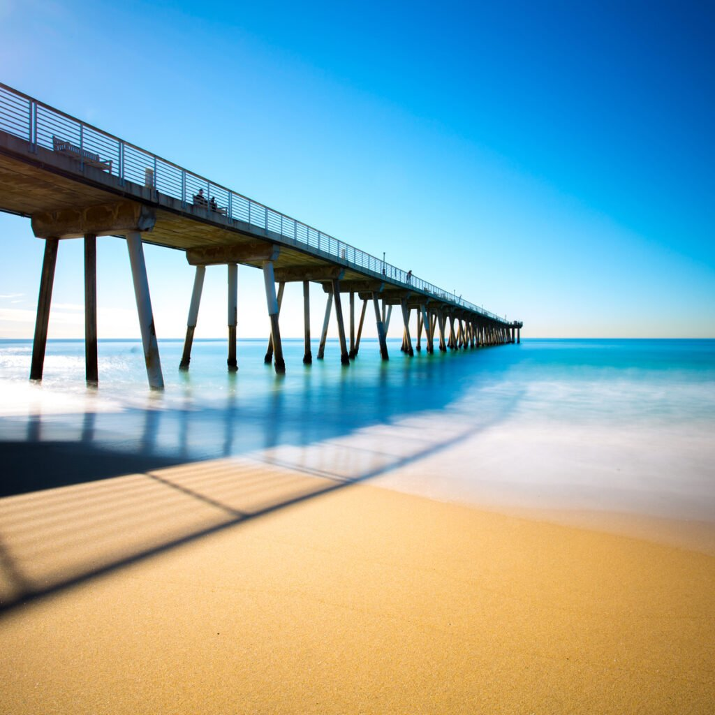 The pier at Hermosa Beach in California.