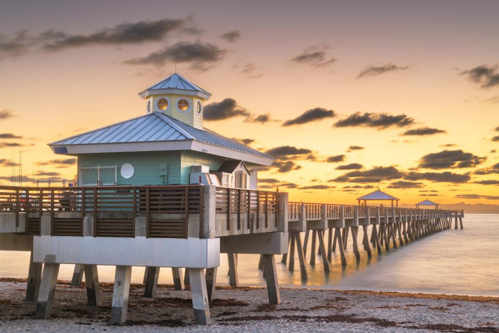 The pier at Juno Beach in West Palm Beach, Florida.