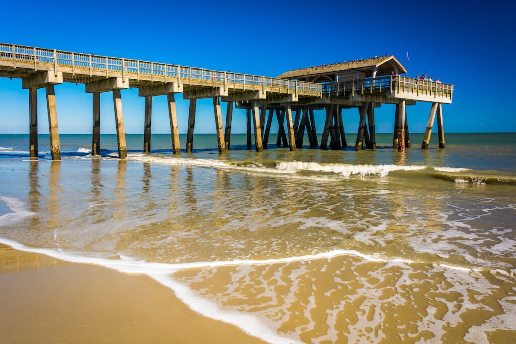 The pier at South Beach in Tybee Island.