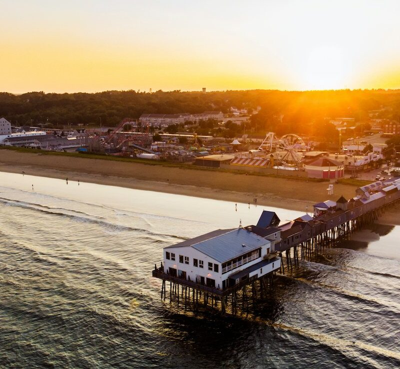 The pier in Old Orchard Beach.