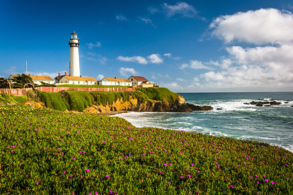 The Pigeon Point Light Station in Pescadero, California.
