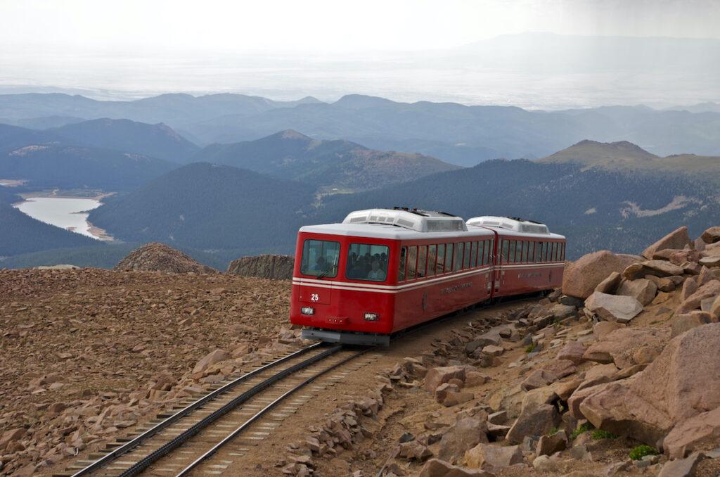 The Pikes Peak Cog Railway in Colorado.