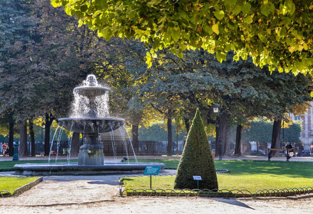 The Place des Vosages in the Marais district of Paris, France.
