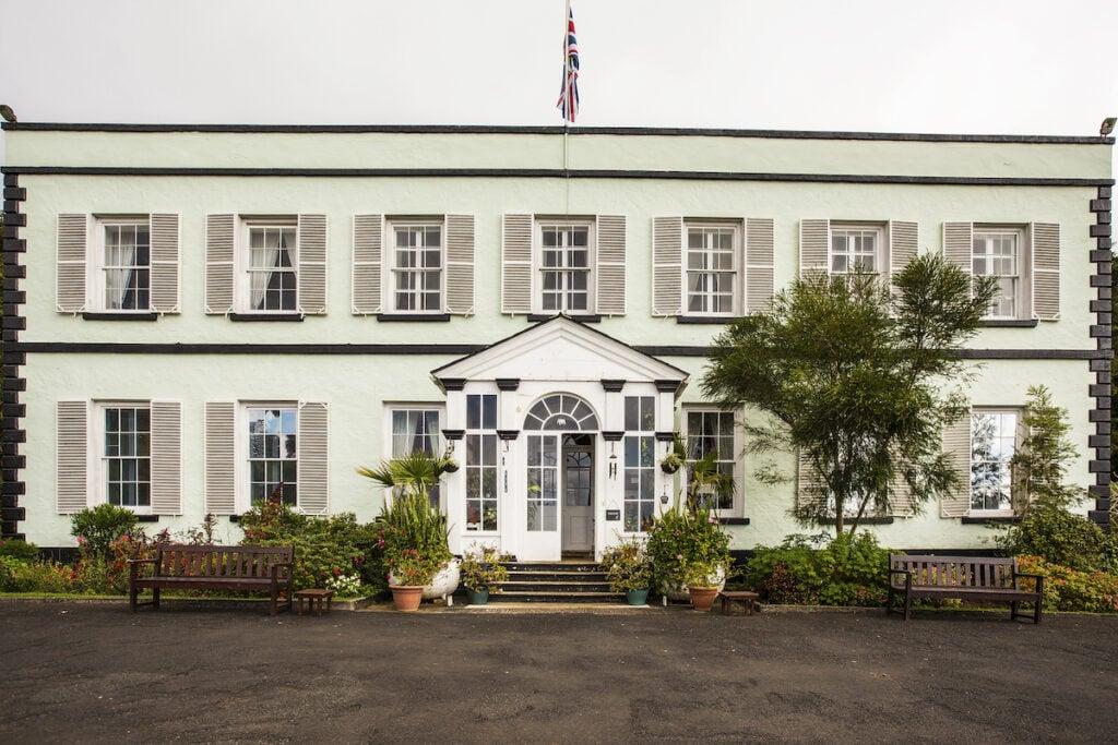 The Plantation House in Saint Helena.