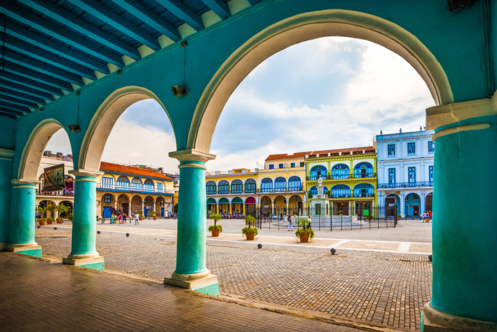 The Plaza Vieja in Old Havana, Cuba