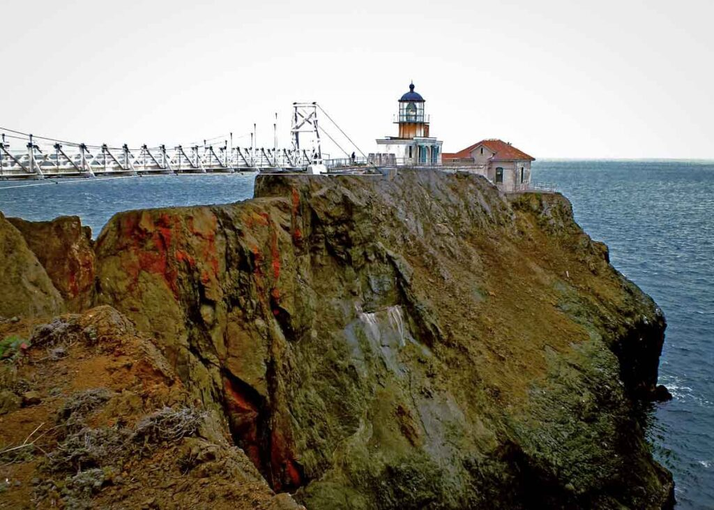 The Point Bonita Lighthouse in California.