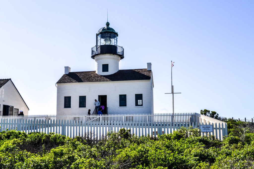 The Point Loma Lighthouse at Cabrillo National Monument.