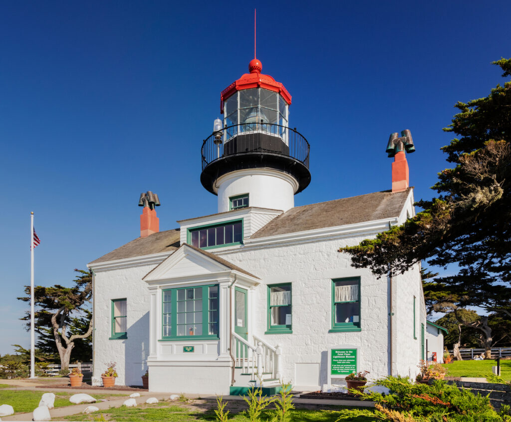 The Point Pinos Lighthouse in Pacific Grove, California.