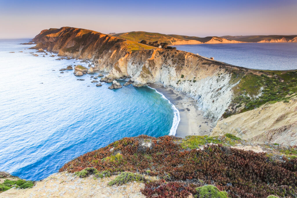 The Point Reyes National Seashore in California.