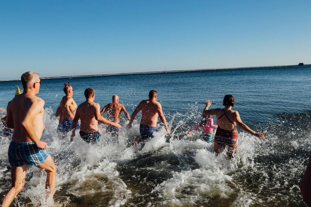 The Polar Bear Plunge in Provincetown.