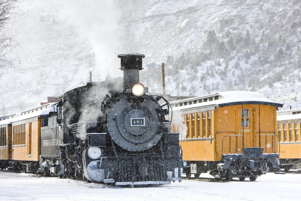 """The """"Polar Express"""" during winter time in Durango, Colorado."""